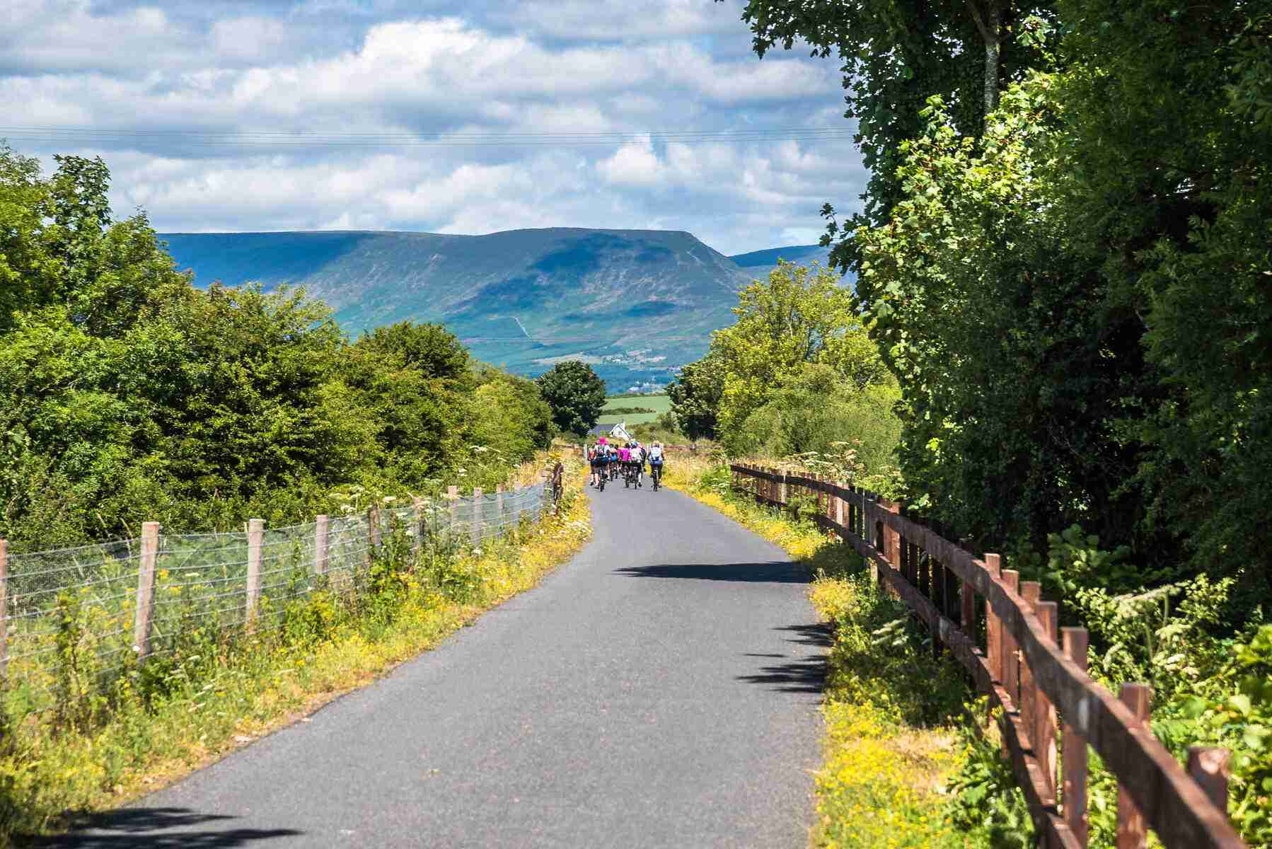 View of Comeragh Mountains from Waterford Greenway