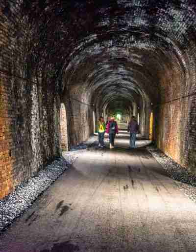 Walkers in the Ballyvoyle Tunnel