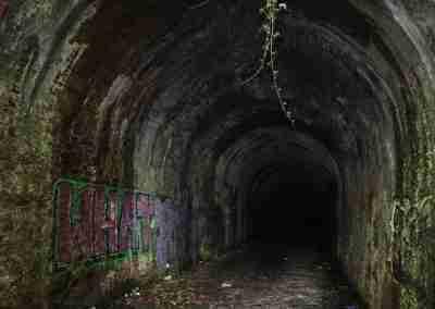 Graffiti inside Mount Elliot Tunnel